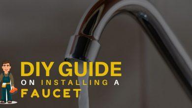 install a faucet