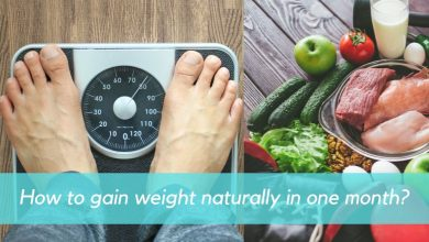gain weight naturally in one month